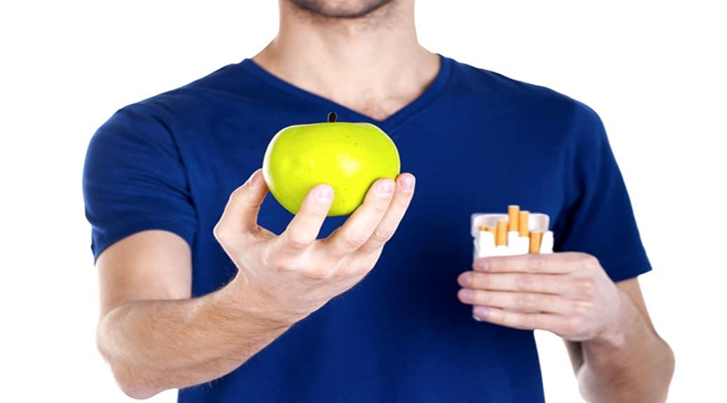 Addio tabacco: l'importanza di frutta e verdura