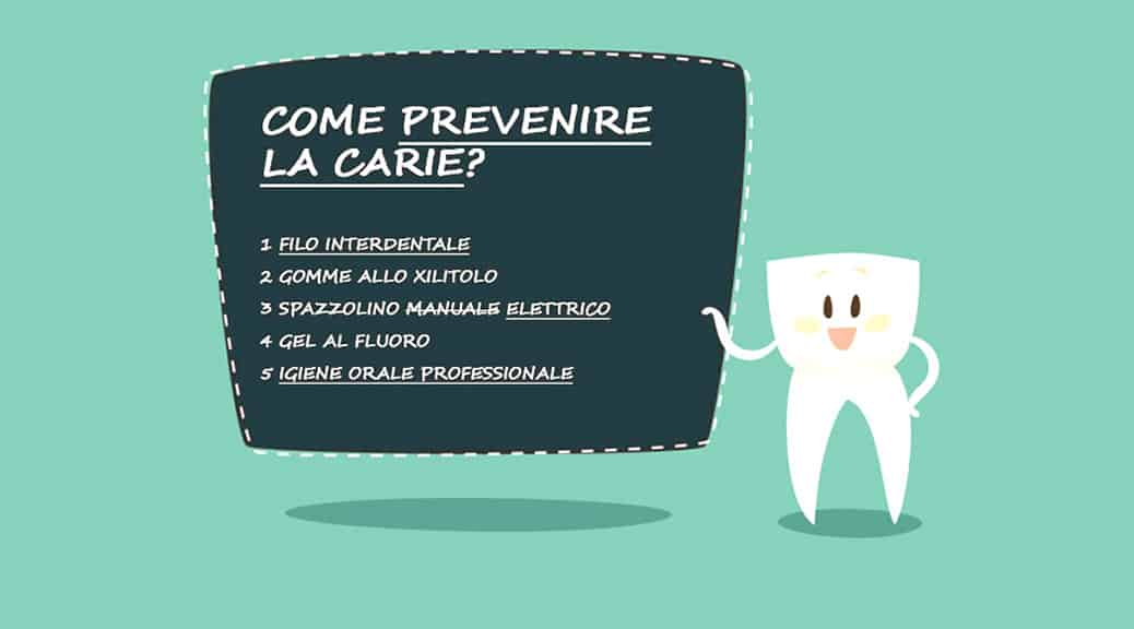 Carie dentale: come prevenirla